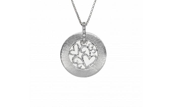 Handmade silver necklace zirconia