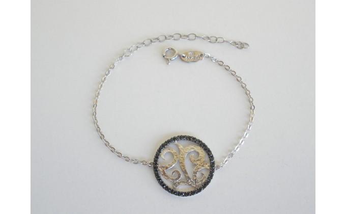 B 333 silver jewel bracelet