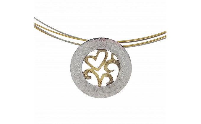 M 403 Handmade silver jewel pendant