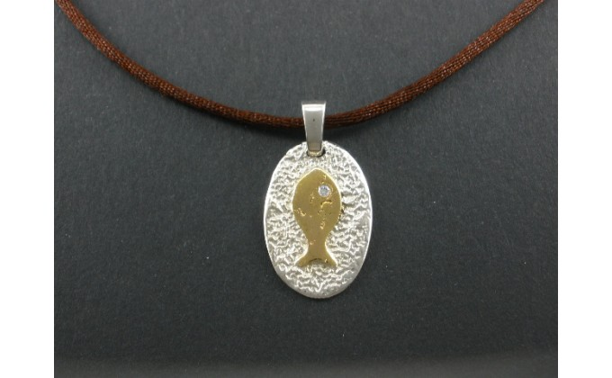 M 65 handmade silver jewel pendant
