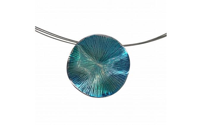 """Women""""s handmade silver necklace enamel"""