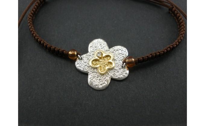 B 54 handmade silver jewel bracelet zirgon