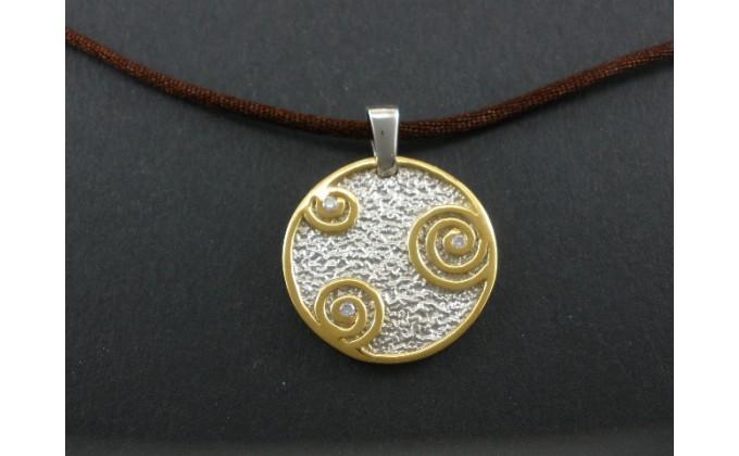 M 60 Handmade silver jewel pendant zirgon