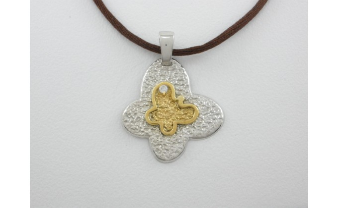 M 55 handmade silver jewel pendant zirgon