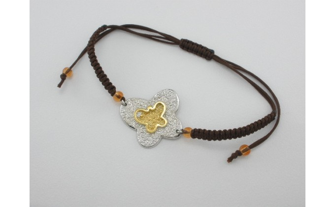 B 55 Handmade silver jewel bracelet zirgon