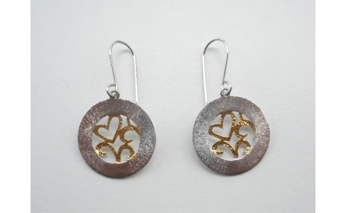 SK 403 Handmade silver jewel earrings