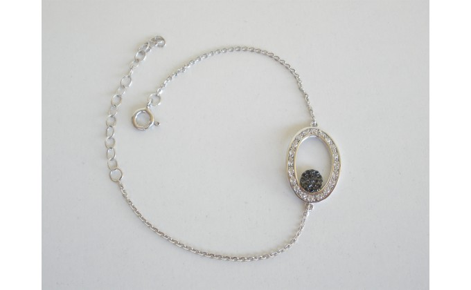 B 289 Silver jewel bracelet with zirgon