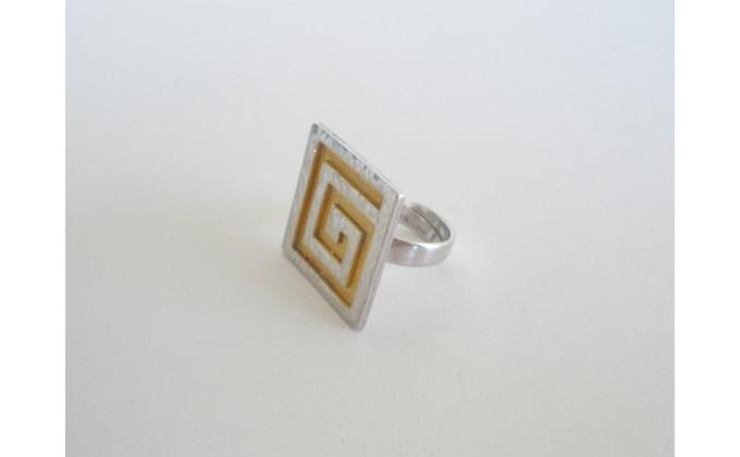 D 92 Handmade silver jewel ring
