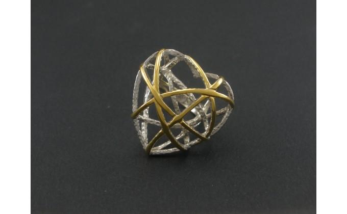 D19 handmade silver jewel ring