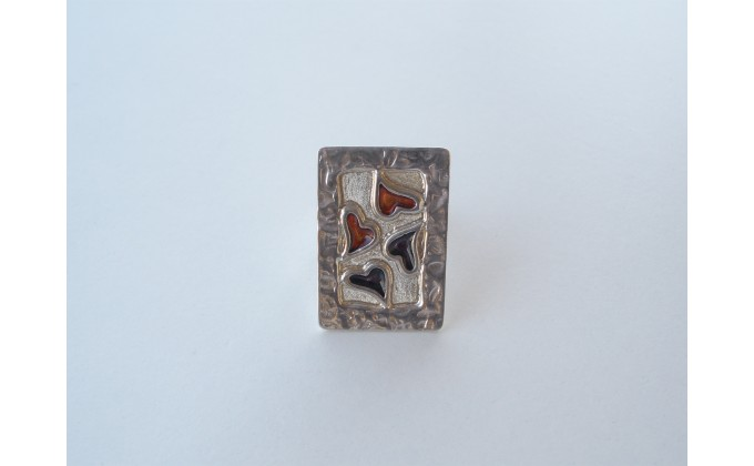 D 6sm  handmade silver ring smalto