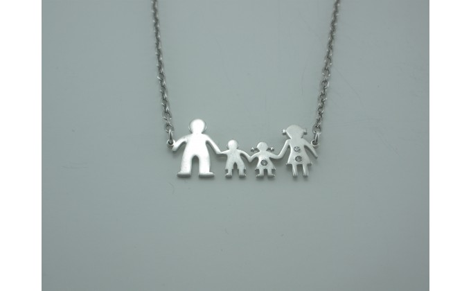 Κ 111 family necklace with zirgon