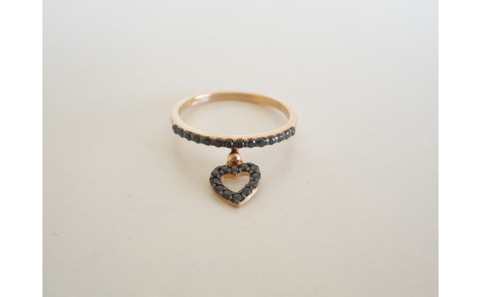 D 343 silver ring zirgon