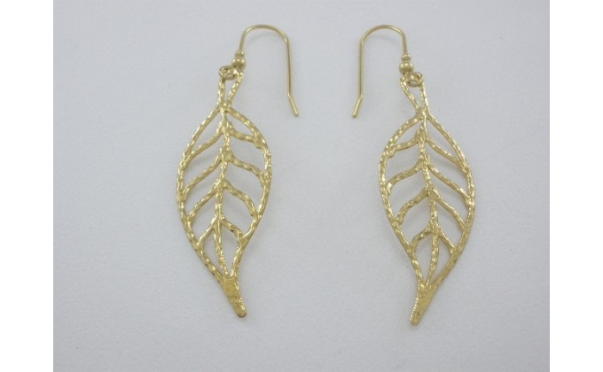 SK 125 Handmade silver earrings :LEAF