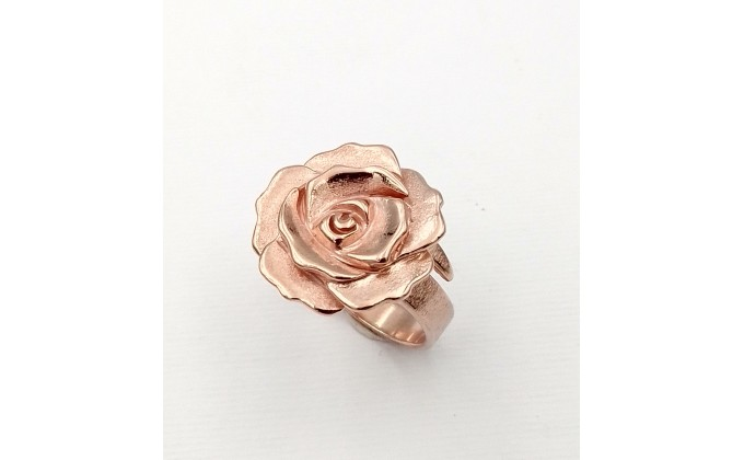D 48 Silver ring lady rose