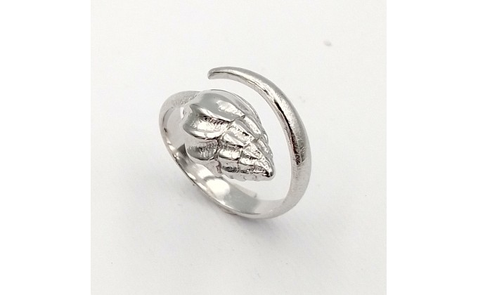 SH Silver ring sea shell