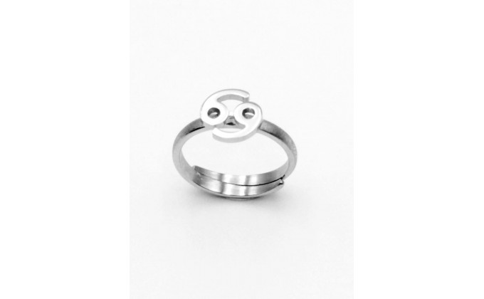 D 156 wedding ring made of 925 silver zodiac sign