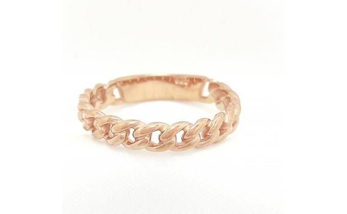 D 164 Δαχτυλίδι αλυσίδα ασήμι 925