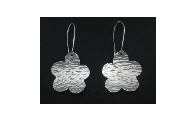 SK 25 Handmade silver earrings