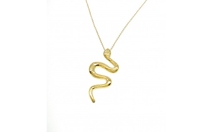 Μ 254 Silver necklace Snake