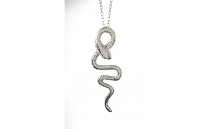 M 257 sterling silver necklace snake