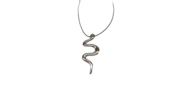 M 305 Silver necklace snake