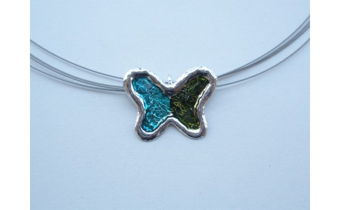 Μ10 Silver pendant with enamel