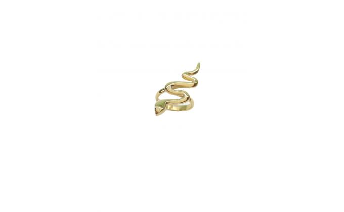D 307 Handmade silver ring snake
