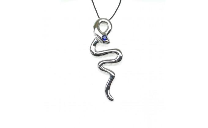 Μ 314 Handmade silver snake  zirgon