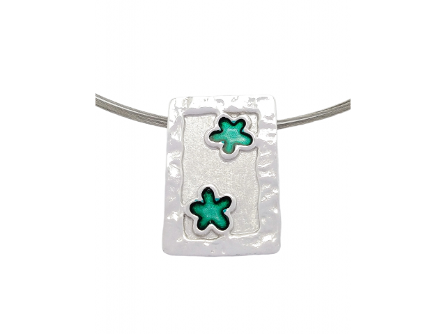 M 4sm Handmade silver pendants with enamel