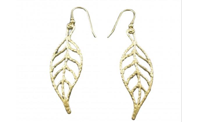 SK 125 Handmade silver earrings :LEAF