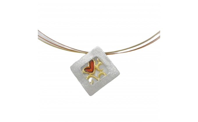 M 401sm Handmade pendants with enamel