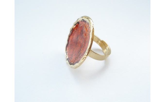 D 7sm Handmade ring with enamel