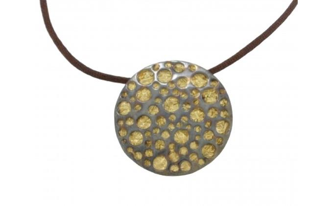 "M34 Handmade silver pendant ""GALAXY"""